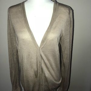 Ann Taylor sheer button down cardigan
